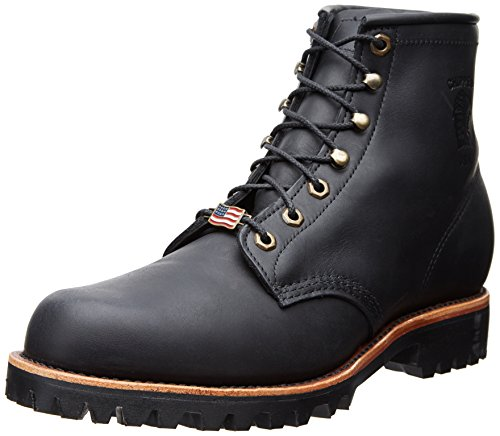 "Chippewa Men's 6"" 20028 Lace Up Boot,Black,11 EE US"