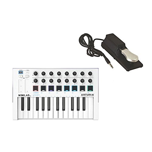 Arturia MINILAB MKII Keyboard and KSP100 Universal Sustain Pedal by Arturia