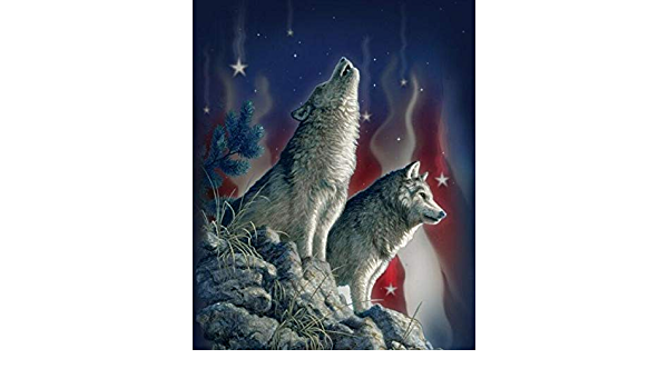 Wolf Song 4058 100/% Cotton Fabric Panel by David Textiles!