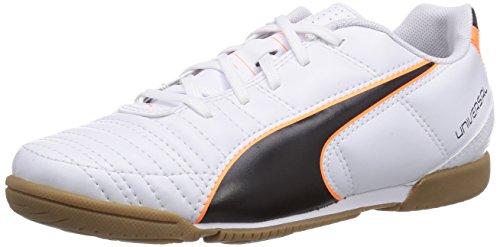 Puma Universal II IT Jr, Unisex-Kinder Hallenschuhe, Weiß (white-black-fluo flash orange 02), 32 EU (13 Kinder UK)