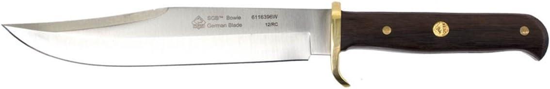 Puma SGB Bowie Jacaranda Wood Hunting Knife with Ballistic Nylon Sheath