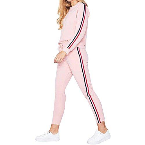 Sweatshirt,Toimoth Women Sports Two Piece Set Hooded Sweatshirt Suits Tracksuits Sweatpants(Pinka,L)
