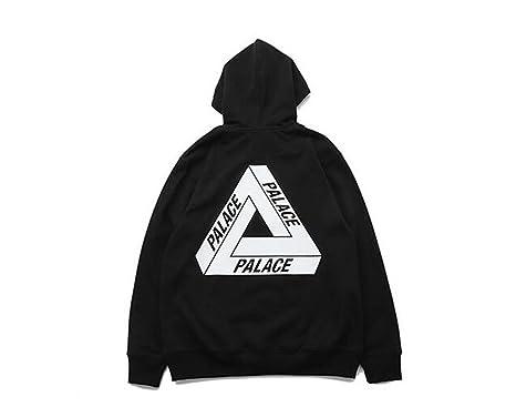 9c352fbc9337 DuoLu Palace Fashion Triangle Pattern Print Pullover Hoodie Casual Sweater  Men Women