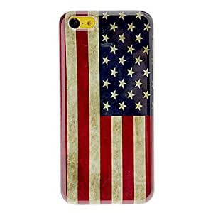 CECT STOCK Vintage Las estrellas y el caso duro del patrón Stripes para iPhone 5C