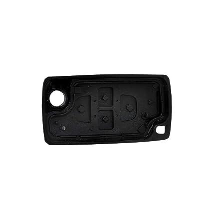 PHONILLICO Carcasa CLE Peugeot 807 1007 – Jongo Llave Mando a Distancia 4 Botones Hoja sin Ranura Modelo sin Tarjetero Pila