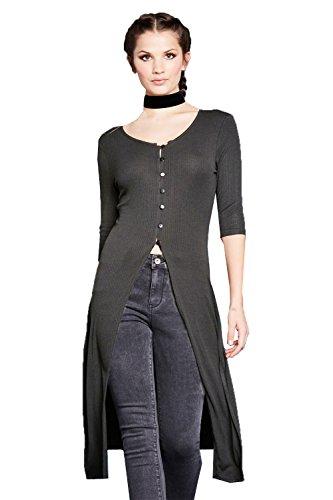 Boutonné Robe Designer Charbon Femmes Longue Gris Brave Soul Ligne Bilbo rCsQthd