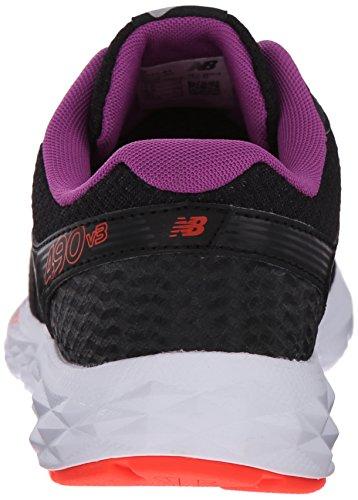 New Balance Femmes W490v3 Chaussure De Course Noir / Violet