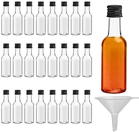 ESE ES EL ESPÍRITU: Con 24 botellitas de plástico pequeñas en este set, es fácil mantener consigo su