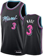 Men's NBA Jerseys - Miami Heat #3 Dwyane Wade Cool Breathable Fabric Breathable Wear Resistant Vintage Basketball Jerseys