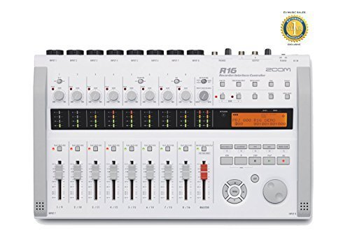 Zoom R16 Digital Multi-Track Recorder, Audio Interface and Control Surface with 1 Year Free Extended Warranty (Zoom R16 Recorder)