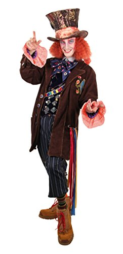 elope Alice Through The Looking Glass Mad Hatter Tea Party Replica Costume Mens S/M -