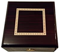 Elegant Cherry Wood Watch Box - Extra Large Compartments for 6 Watches from RayCo Unlimited