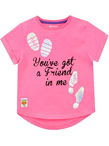 Disney Girls Toy Story T-Shirt Pink Size 4