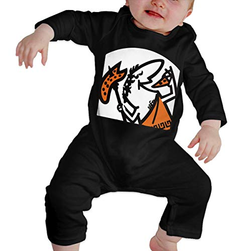 Fasenix Cute Little Caesar Newborn Baby Boy Girl Romper Jumpsuit Long Sleeve Bodysuit Overalls Outfits Clothes Black ()