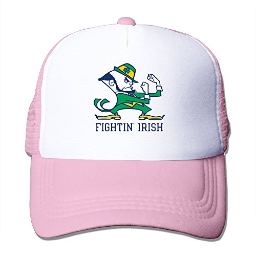 Price comparison product image HandSon Custom Adjustable Two-toned University Of Notre Dame Logo Sporting Caps Pink