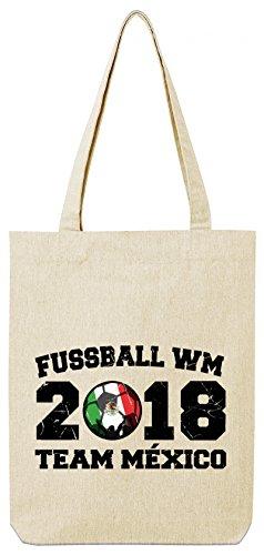 ShirtStreet Mexiko Fußball WM Fanfest Gruppen Premium Bio Baumwoll Tote Bag Jutebeutel Stanley Stella Team Mexico Natural g0Z4nHhhKj