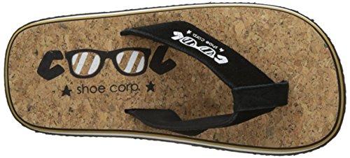 01086 Shoe Nero Uomini Original Marrone cork camel Infradito Cool A8v4wqB4