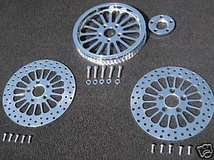 Super Spoke Pulley Kit with all Chrome Hardware 2000-2006 Softails (Except Wide Tire Models) 70 Tooth Pulley for 1 1/8