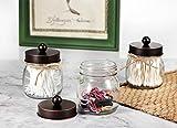 Mason Jar Bathroom Storage Organizer - Oil Rubbed