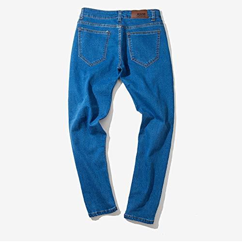 Jeans Autunno A Sonnena E Lavoro hop Retrò Blu Trousers In Strappati Da Inverno Cotone Brandelli Denim Hip Pantaloni Uomo Casual q6r6wtZ