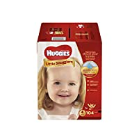 HUGGIES Little Snugglers Baby Diapers, Size 4, 104 Count (Packaging May Vary)