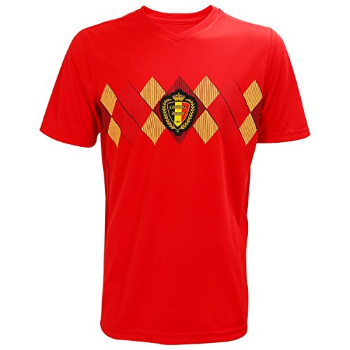 Sleeve Jersey Short Football (TOOGOO World Cup Men Sportswear Soccer Belgium Shirt Breathable Short Sleeve Shirt Jerseys Uniforms Couple Football Kit Shirt Tracksuit(Men,L))