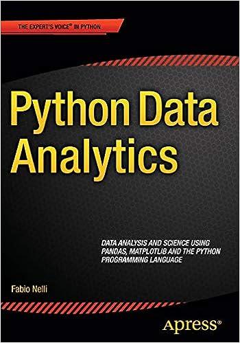 Python Data Analytics: 9781484209592: Computer Science Books