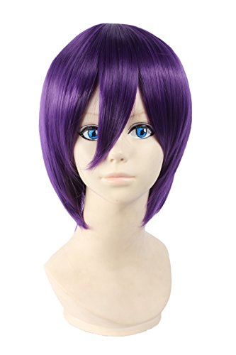 Angelaicos Unisex Lolita Harajuku Style Halloweeen Anime Cosplay Party Costume Full Wigs Short (Cute And Easy Hairstyles For Halloween)