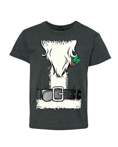 [Shop4Ever Christmas Santa Costume Youth's T-Shirt Xmas Shirts Youth Medium Dark Heather12259] (A Christmas Carol Costume Design)