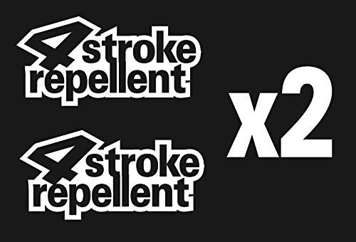 2 Stroke Sticker Decal 4 Stroke Repellent Funny Motocross Car Mx Dirtbikes (Funny Repellent)