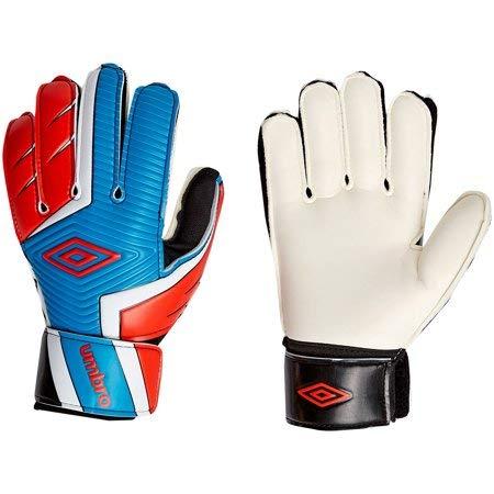 New Soccer Gloves - Umbro New Adult Rift Soccer Goalie Gloves Red/White/Blue Size 7