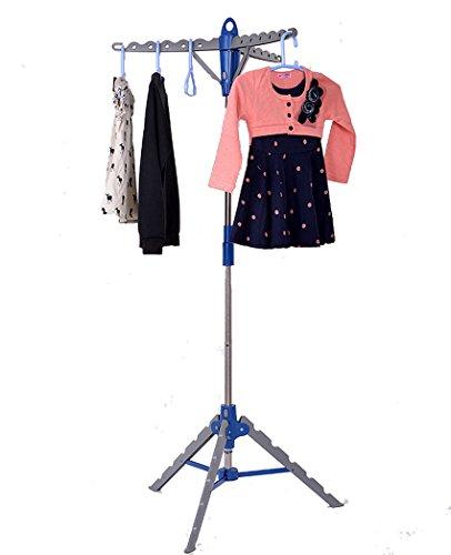 Binxin Garment Clothes Hanger Stand Folding Portable Drying Laundry Indoor Patio Display Tree Rack