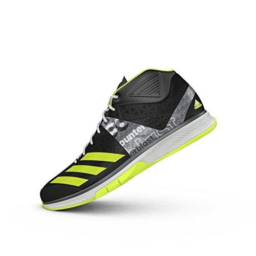 Adidas Counterblast Falcon Mid, Chaussures de Handball Homme, Noir (Neguti/Amasol/Ftwbla), 48 EU