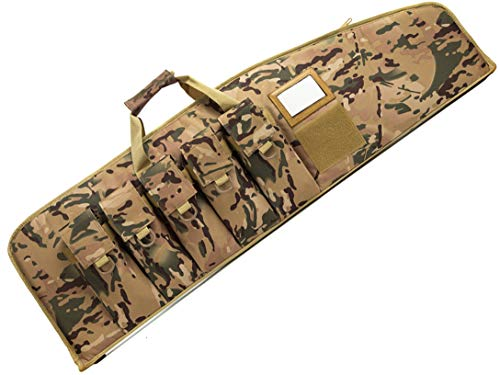 SUNLAND Rifle Case Tactical Gun Case for AR15 with 5 Pouches Heavy Duty Rifle Bag ( Multicam 42inch)