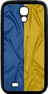 Rikki KnightTM Ukraine Flag Design Samsung? Galaxy S4 Case Cover (Black Hard Rubber TPU with Bumper Protection) for Samsung Galaxy S4 i9500