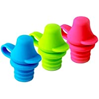 KiddiKap- No Spill Silicone Bottle Top Spout 3 Pack Bundle (Red, Blue, Green) BPA Free