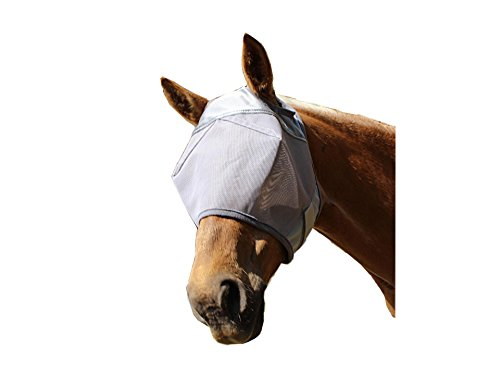 Derby Originals UV Protection Horse Fly Mask without Ears Grey at Wholesale Price (Medium (Horse Mask Price)