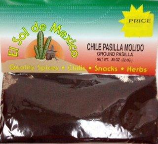 Ground Pasilla Chili Powder by El Sol de Mexico .80 oz