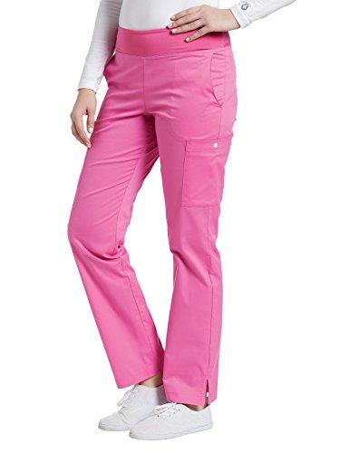Allure by White Cross Women's Yoga Elastic Waistband Scrub Pant Xx-Small Petite Paris Pink