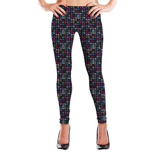 2e69b4d89576 MyLeggings Buttersoft Printed Leggings Colored Squares new ...