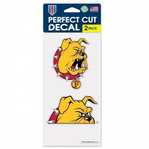 Wincraft NCAA Ferris State University Perfect Cut Decal (Set of 2), 4'' x 4''