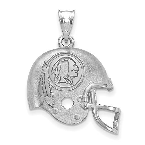 NFL Sterling Silver LogoArt Washington Redskins Football Helmet Logo Pendant - Logo Pendant 14kt Gold Jewelry