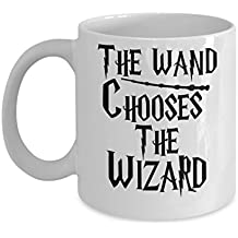 The wand chooses the wizard - J.K. Rowling Quote By: Trinkets & Novelty This Harry Potter Merchandise Inspired Harry Potter Coffee Mug Is Perfect for any Fan of Harry Potter Books