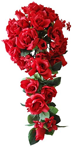 V-Max Floral Decor 20 Inches Rose Wedding Bouquet