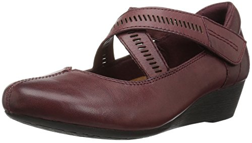 Women's Cobb Janet Hill Rockport Pump Wedge Merlot Leather PCdqSStU