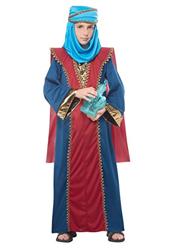 Balthasar, Wise Man (Three Kings) - Child Costume Red/Blue