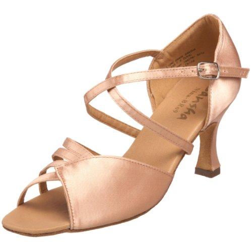 (SANSHA Women's Nina Ballroom Shoe,Flesh,10 M US Women's)