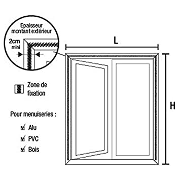 moustiquaire de fen/être automatique moustiquaire aimant/ée Moustiquaire ajustable aimant/ée en fibre de verre TRANQUILISAFE/® pour fen/être L 100//116 - H 100//108 moustiquaire magn/étique