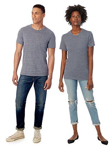 Alternative Men's Eco Crew T-Shirt, Eco Navy, Medium - Eco Blend