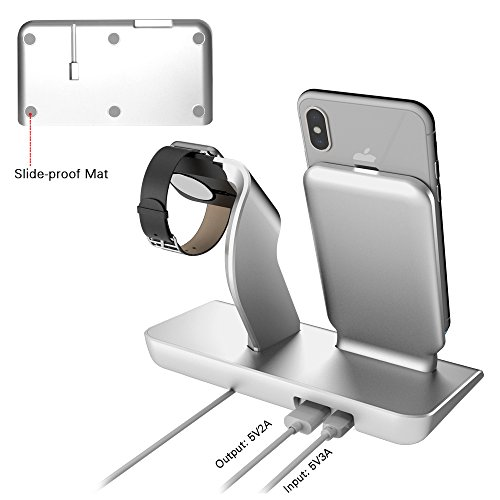 X DODD Replacement for Apple Watch Charging Dock,&Wireless iPhone Charging Stand for iPhone X 8 8 plus Samsung S9/S9+/S8/S8+/S7/Note 8,iWatch Charger Station Holder for iPhone iWatch Series 1/2/3 by XDODD (Image #3)
